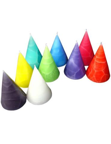 Blockkerzenböxli 6er Set, lindengrün, tannengrün, hellgrün